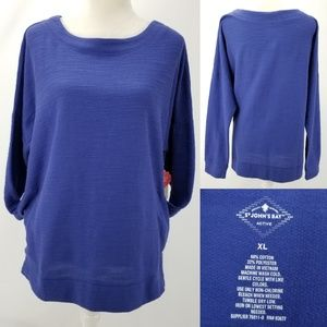 St Johns Bay Active French Terry Boat Neck Top